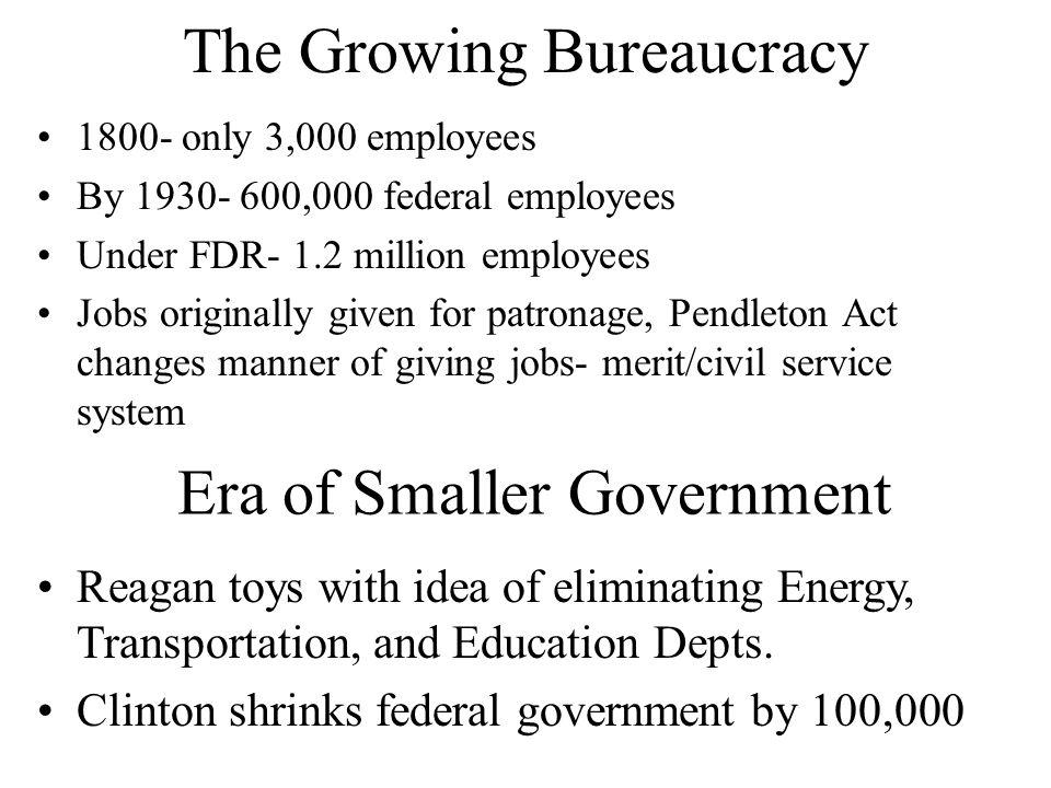 The Growing Bureaucracy