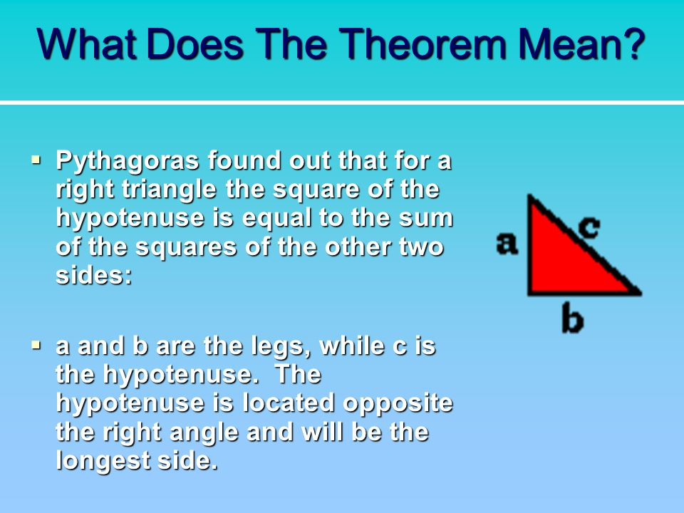What Does The Theorem Mean