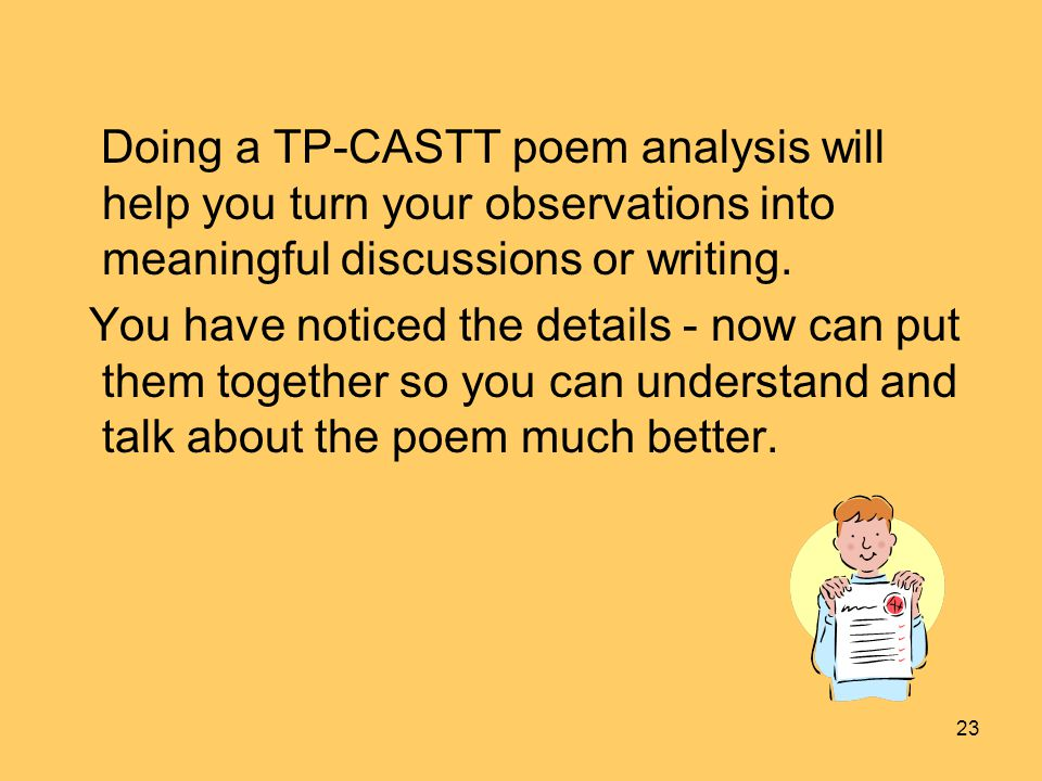an analysis of the poem you This is a video tutorial to assist students in using the sift strategy to analyze poetry-- created using powtoon -- free sign up at.