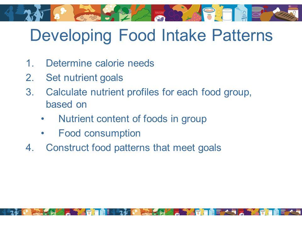 Developing Food Intake Patterns