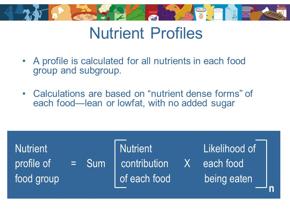 Nutrient Profiles Nutrient Nutrient Likelihood of