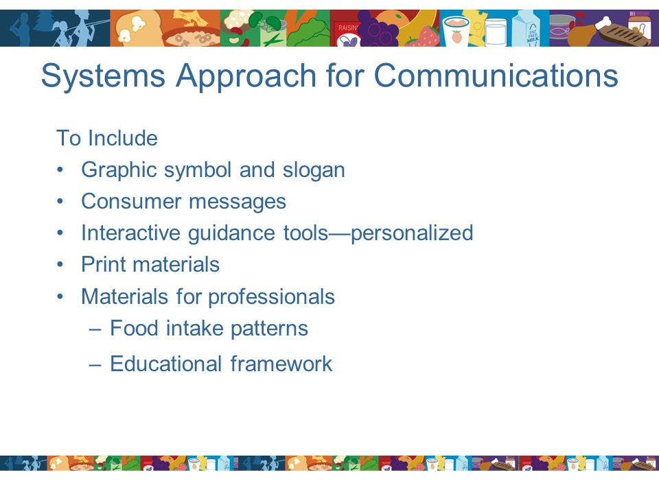 Systems Approach for Communications