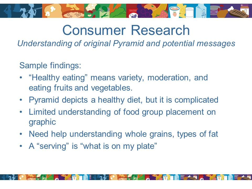 Consumer Research Understanding of original Pyramid and potential messages