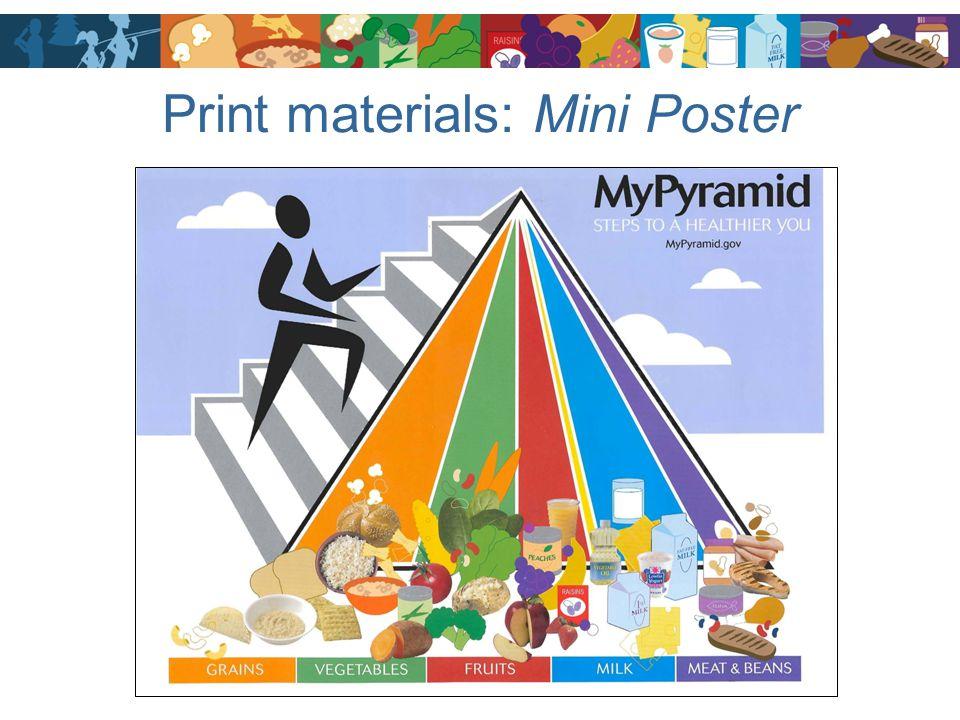 Print materials: Mini Poster