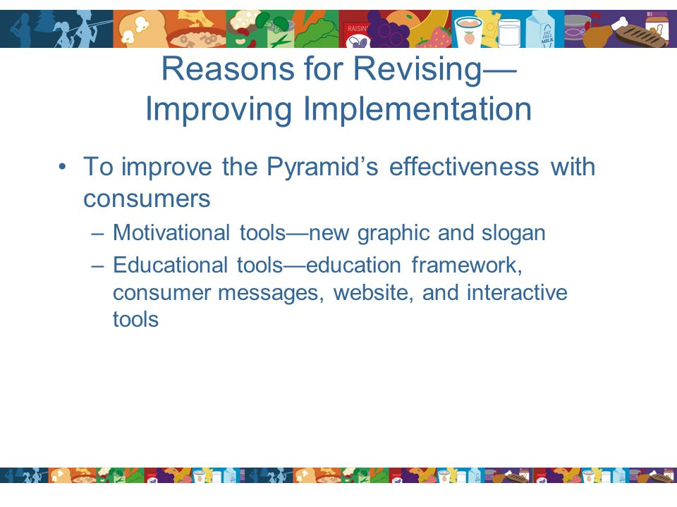 Reasons for Revising— Improving Implementation