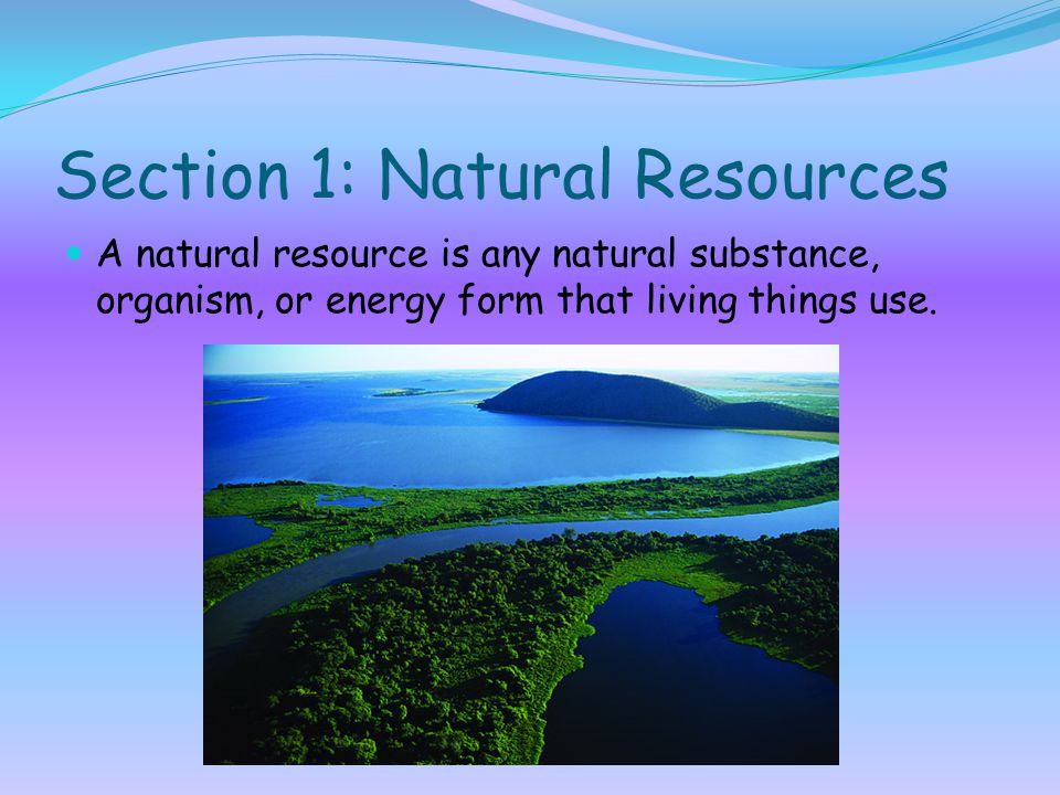 Section 1: Natural Resources