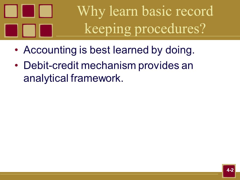 Why learn basic record keeping procedures