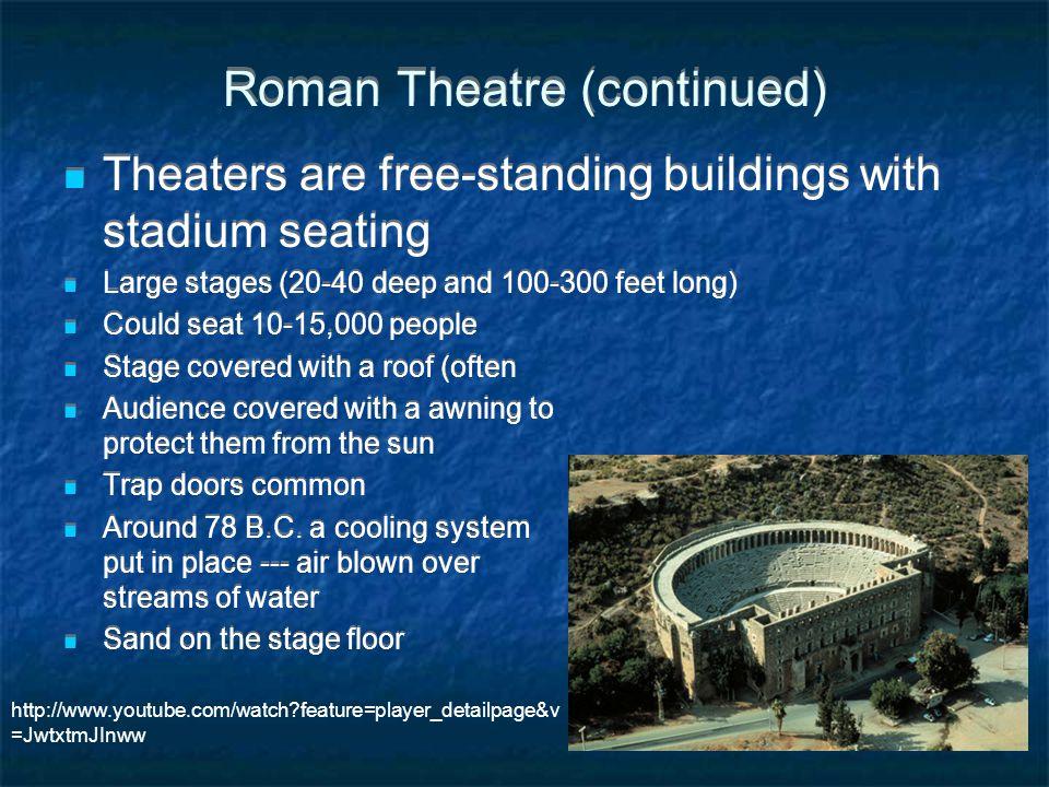 Roman Theatre (continued)