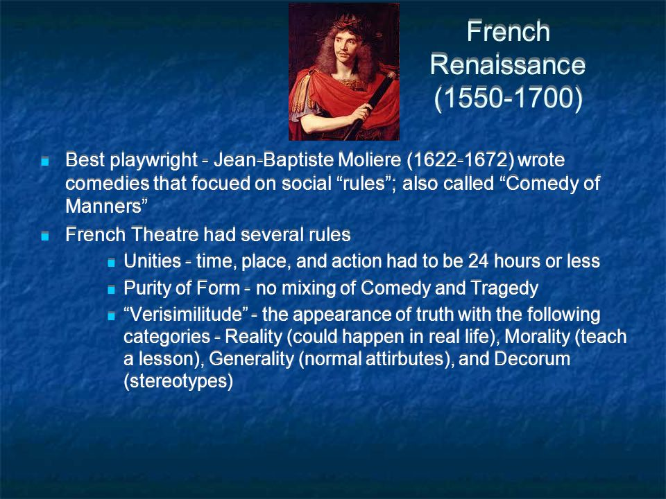 French Renaissance (1550-1700)