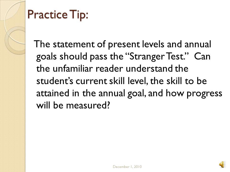 Practice Tip: