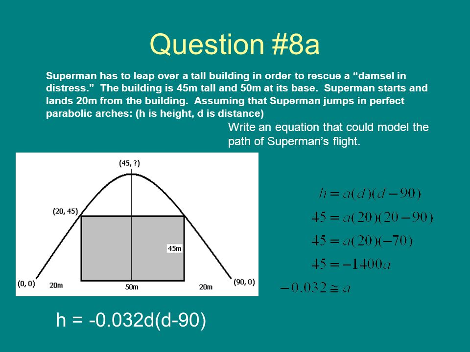 Question #8a