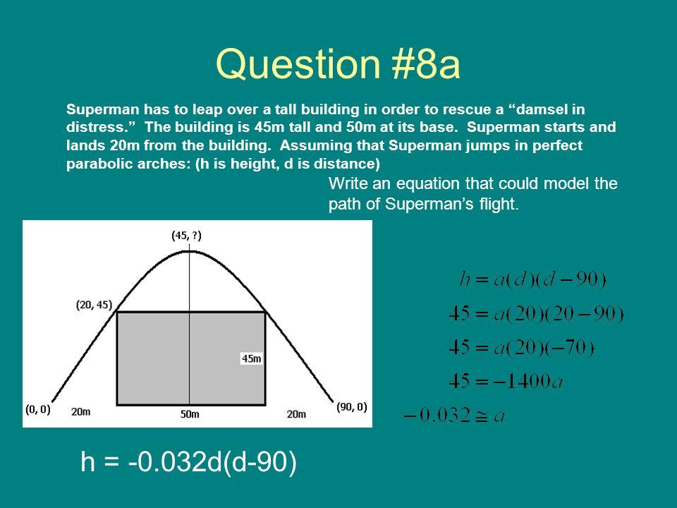 Question #8a