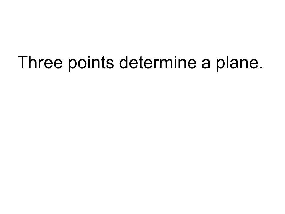 Three points determine a plane.