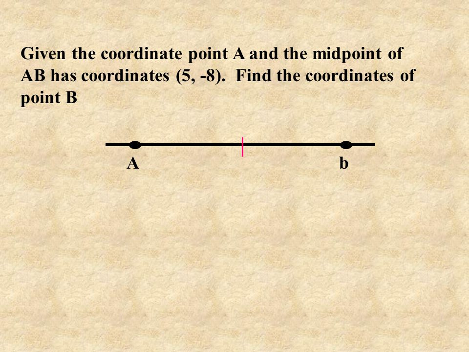Given the coordinate point A and the midpoint of AB has coordinates (5, -8). Find the coordinates of point B