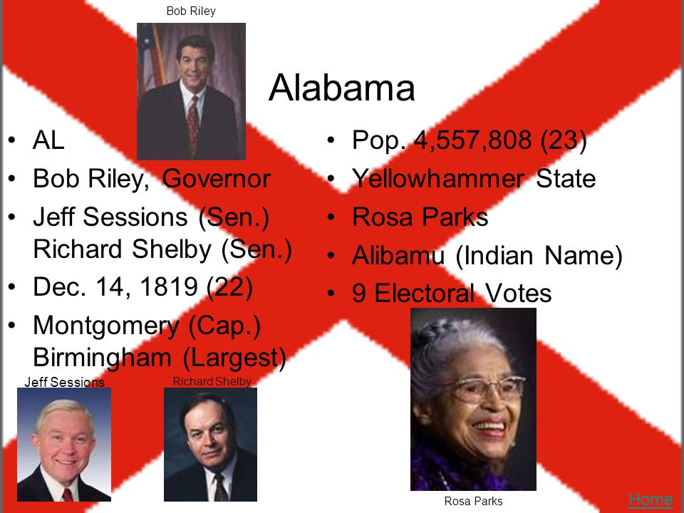 Alabama AL Bob Riley, Governor