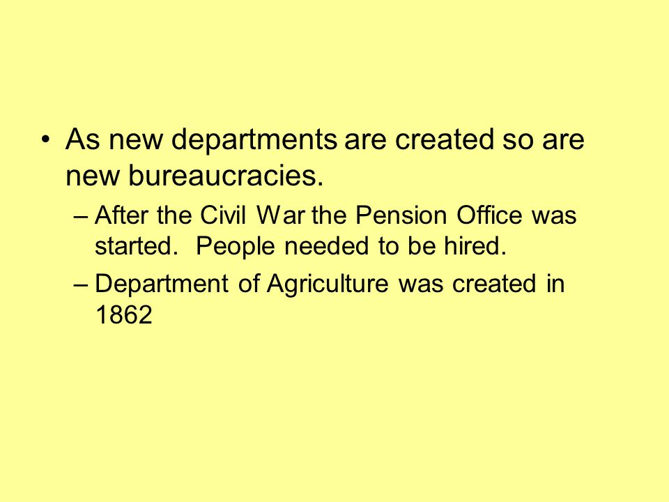 As new departments are created so are new bureaucracies.