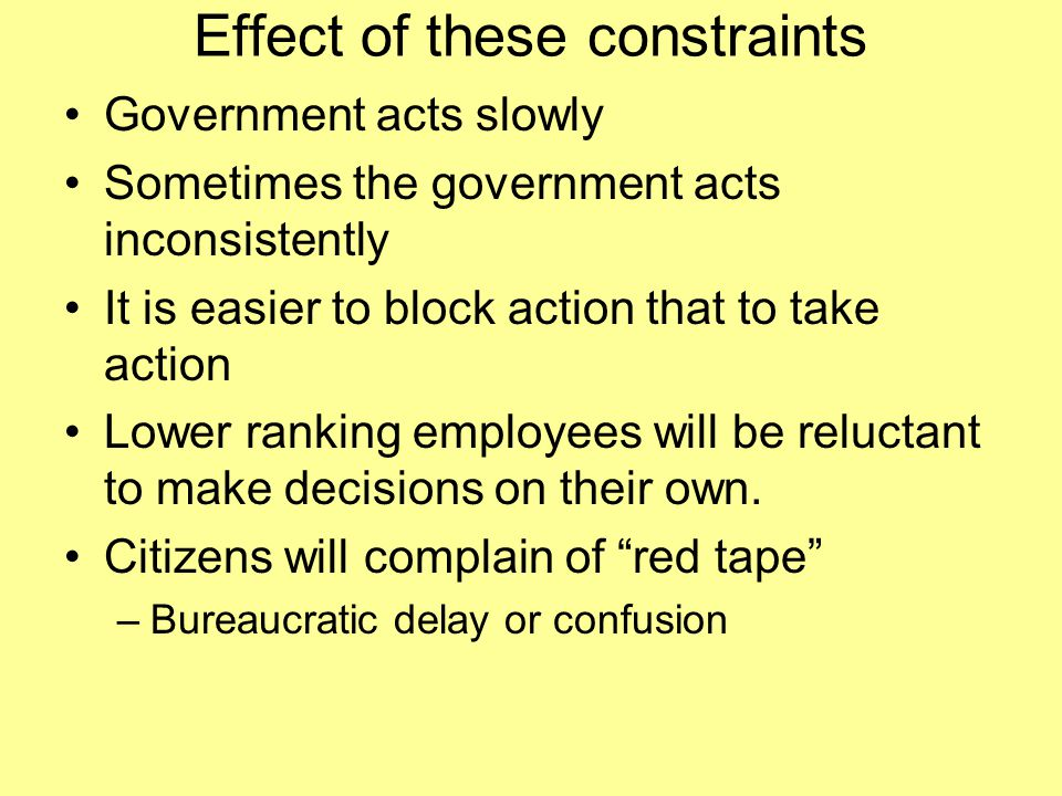 Effect of these constraints