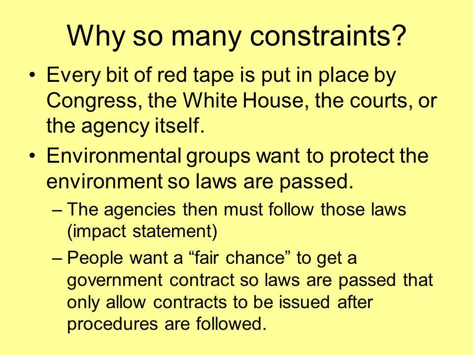 Why so many constraints