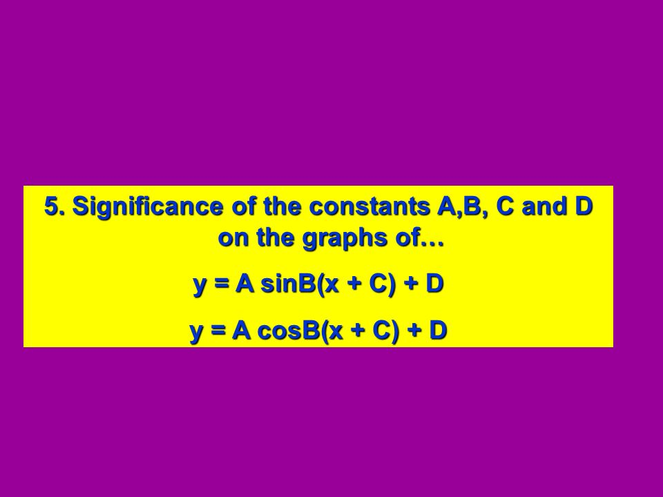 5. Significance of the constants A,B, C and D on the graphs of…