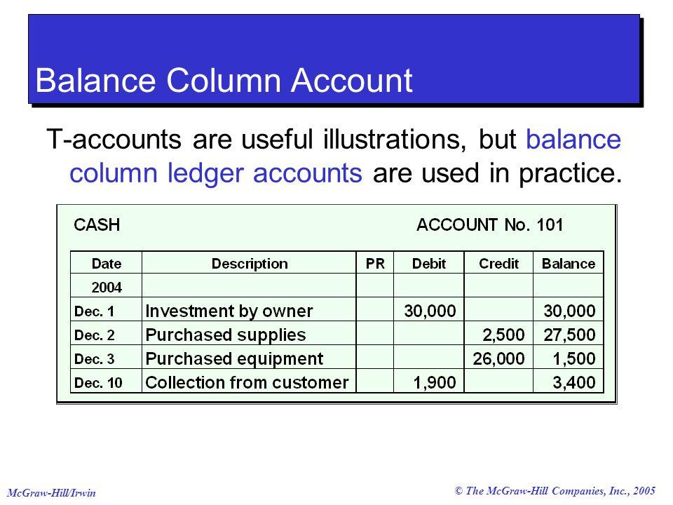 Balance Column Account