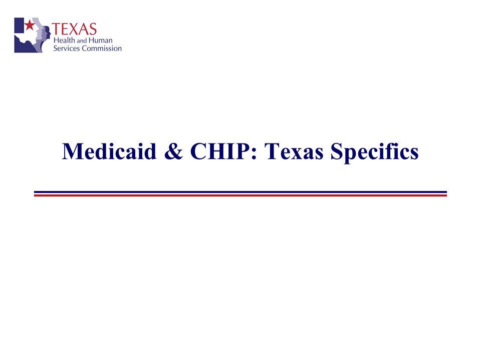 Medicaid & CHIP: Texas Specifics