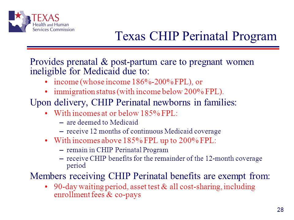 Texas CHIP Perinatal Program