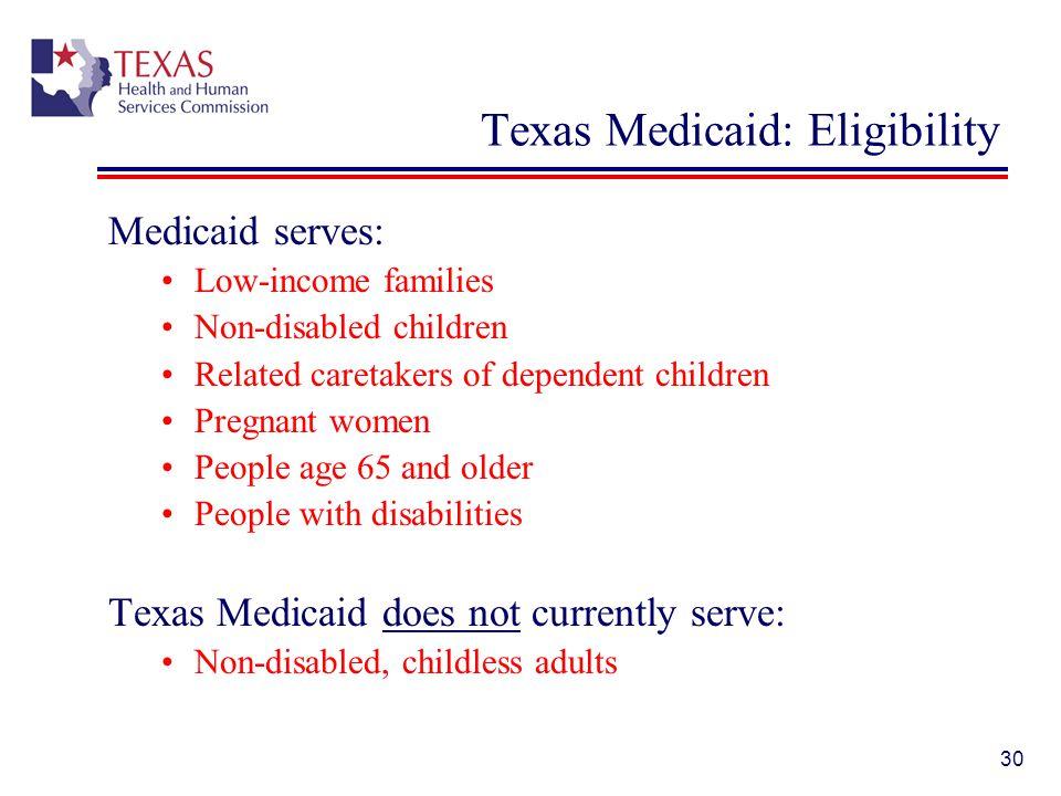 Texas Medicaid: Eligibility