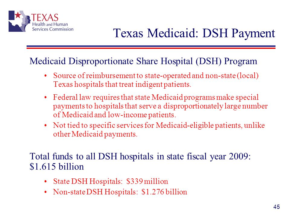 Texas Medicaid: DSH Payment
