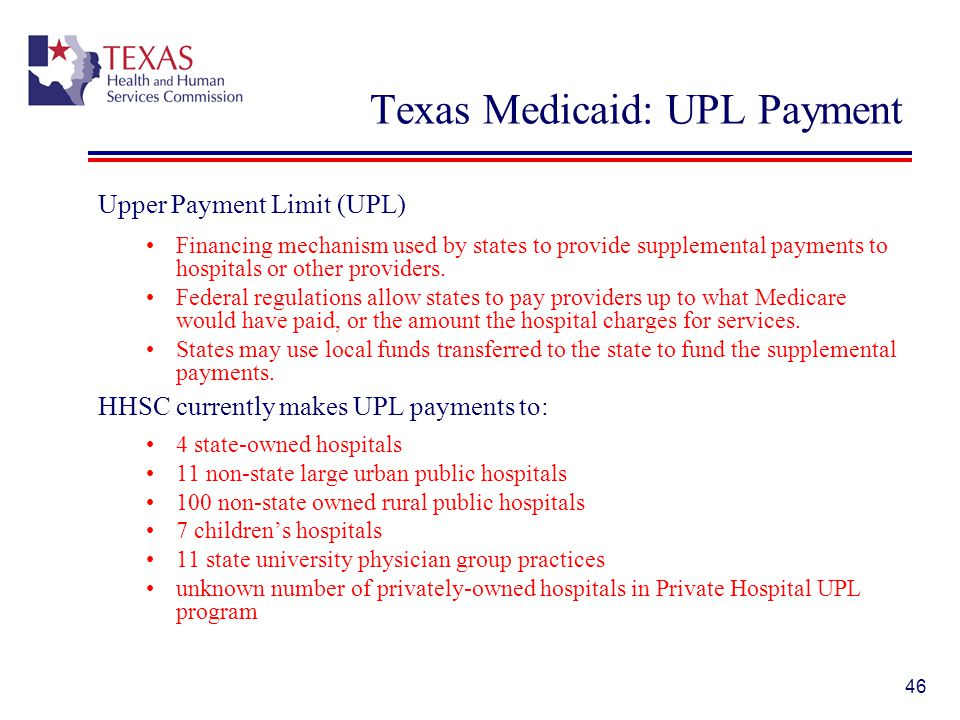 Texas Medicaid: UPL Payment