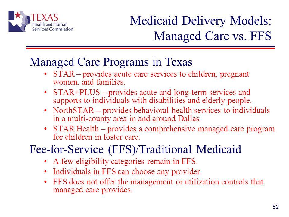 Medicaid Delivery Models: Managed Care vs. FFS