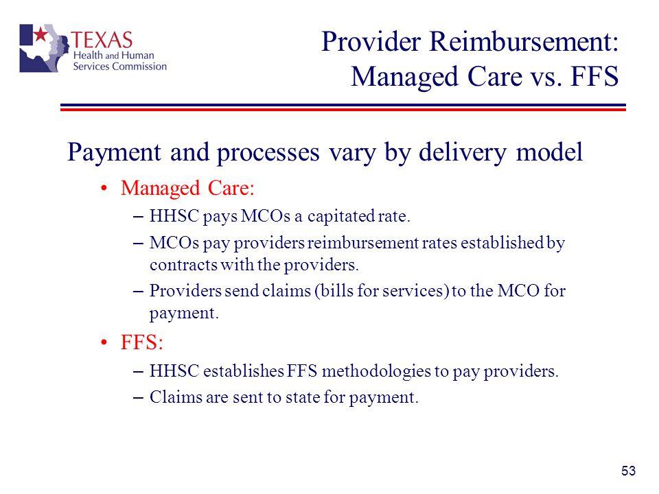 Provider Reimbursement: Managed Care vs. FFS