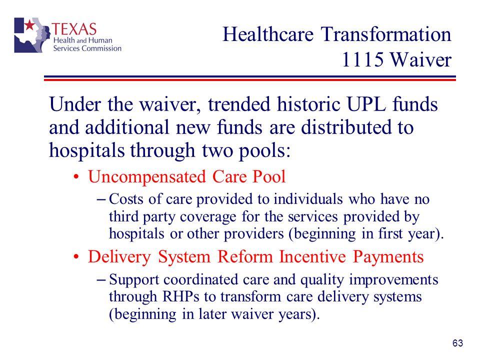 Healthcare Transformation 1115 Waiver