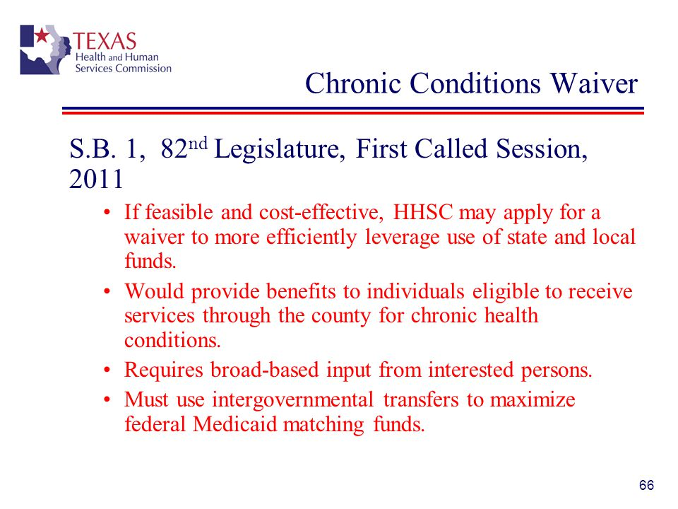 Chronic Conditions Waiver