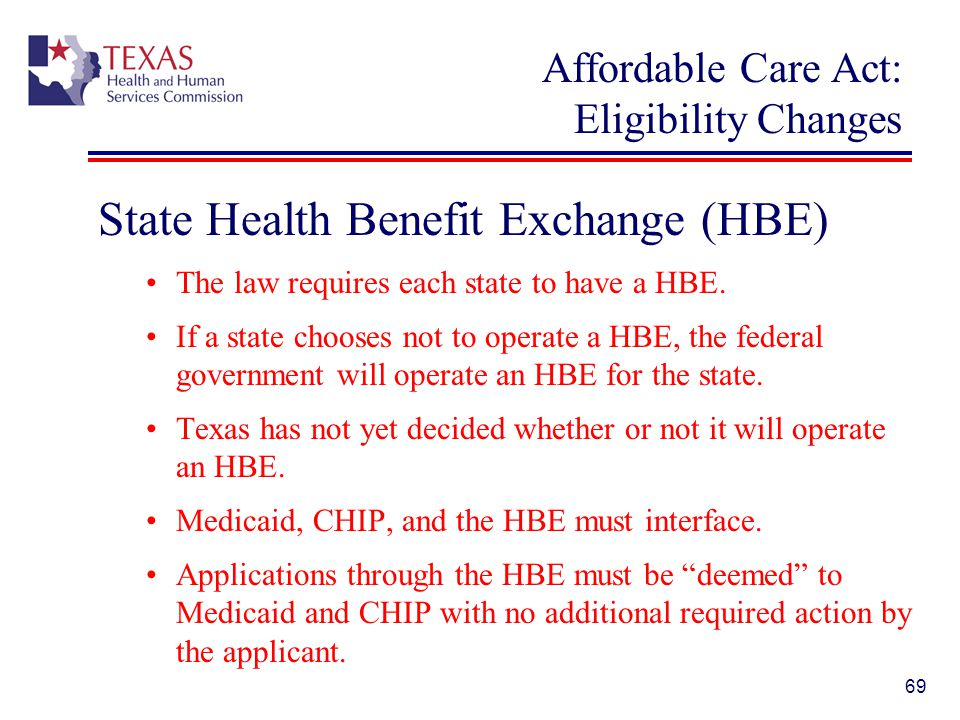 Affordable Care Act: Eligibility Changes