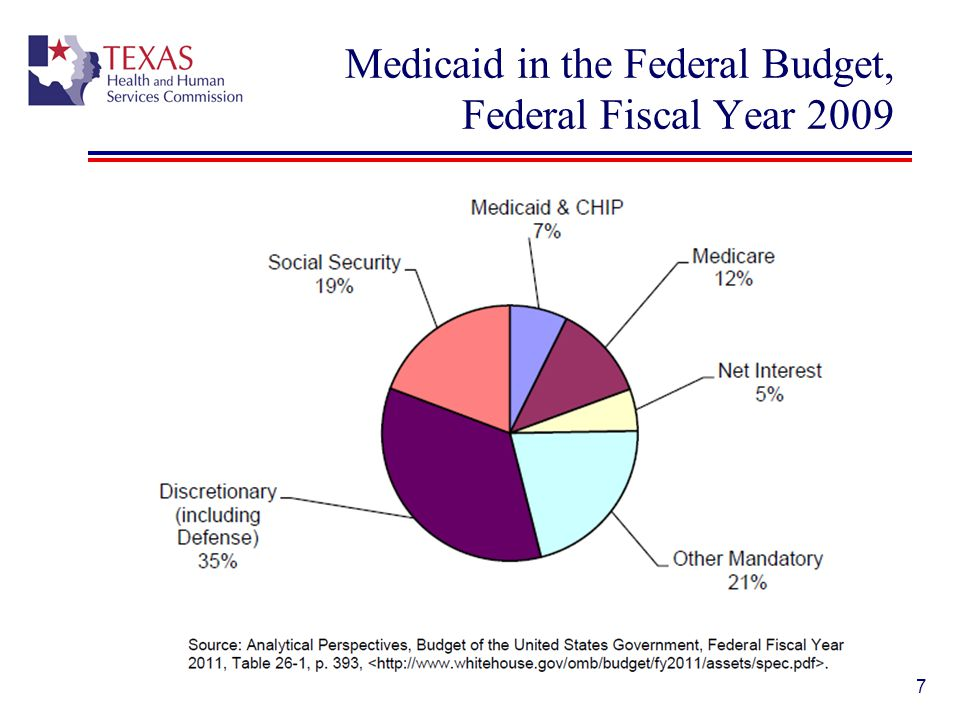Medicaid in the Federal Budget, Federal Fiscal Year 2009
