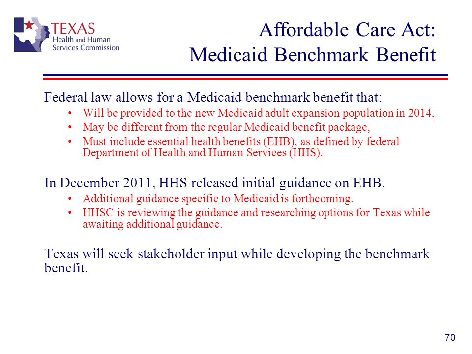 Affordable Care Act: Medicaid Benchmark Benefit