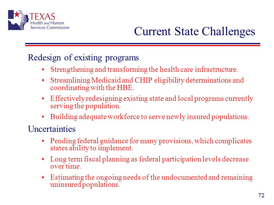 Current State Challenges