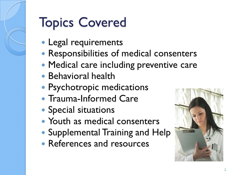 Topics Covered Legal requirements
