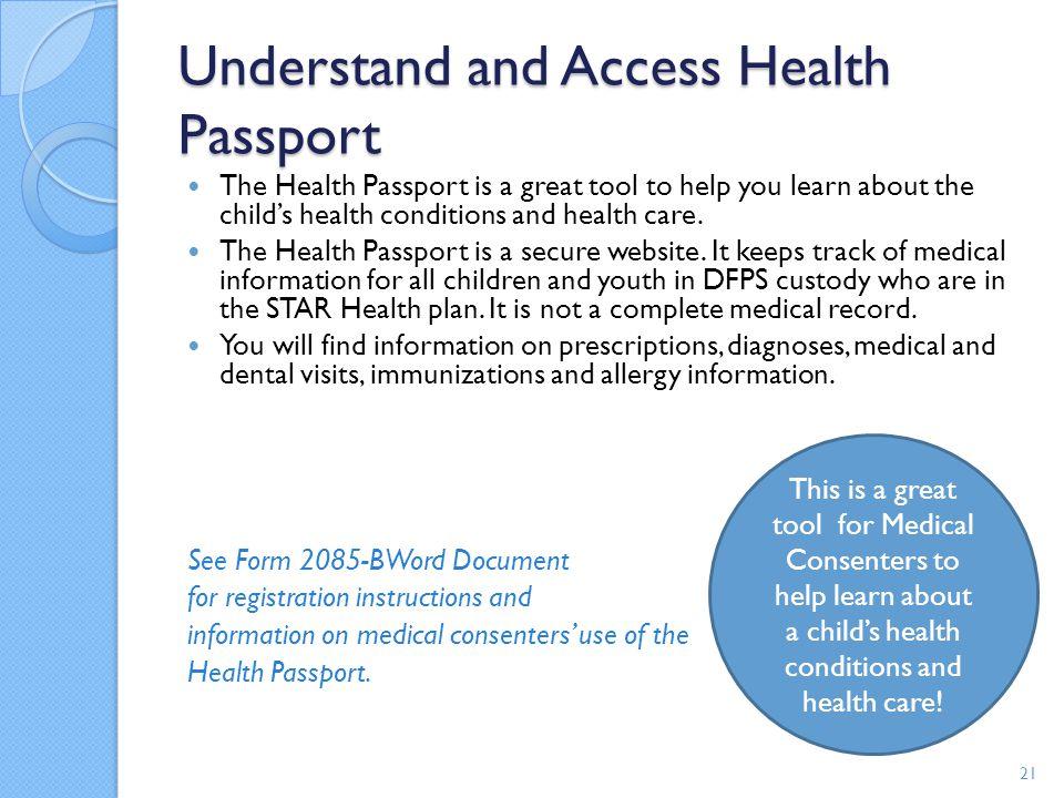 Understand and Access Health Passport
