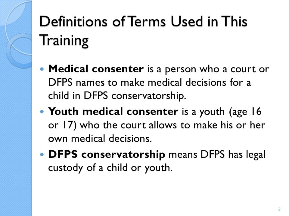 Definitions of Terms Used in This Training