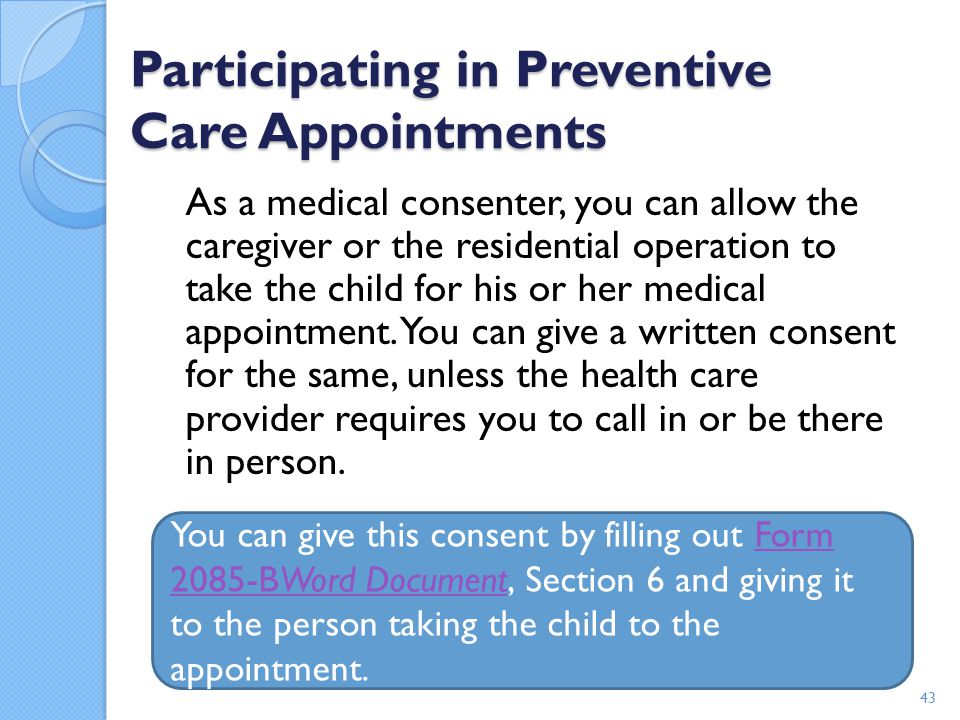 Participating in Preventive Care Appointments