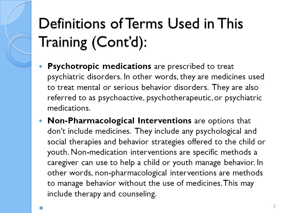 Definitions of Terms Used in This Training (Cont'd):