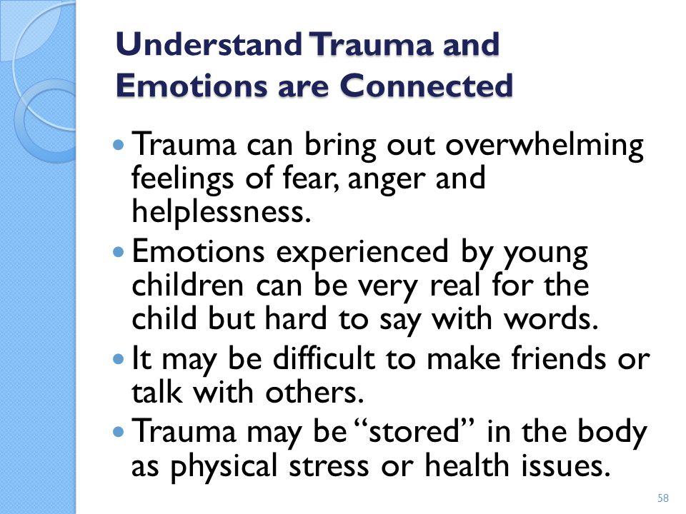 Understand Trauma and Emotions are Connected