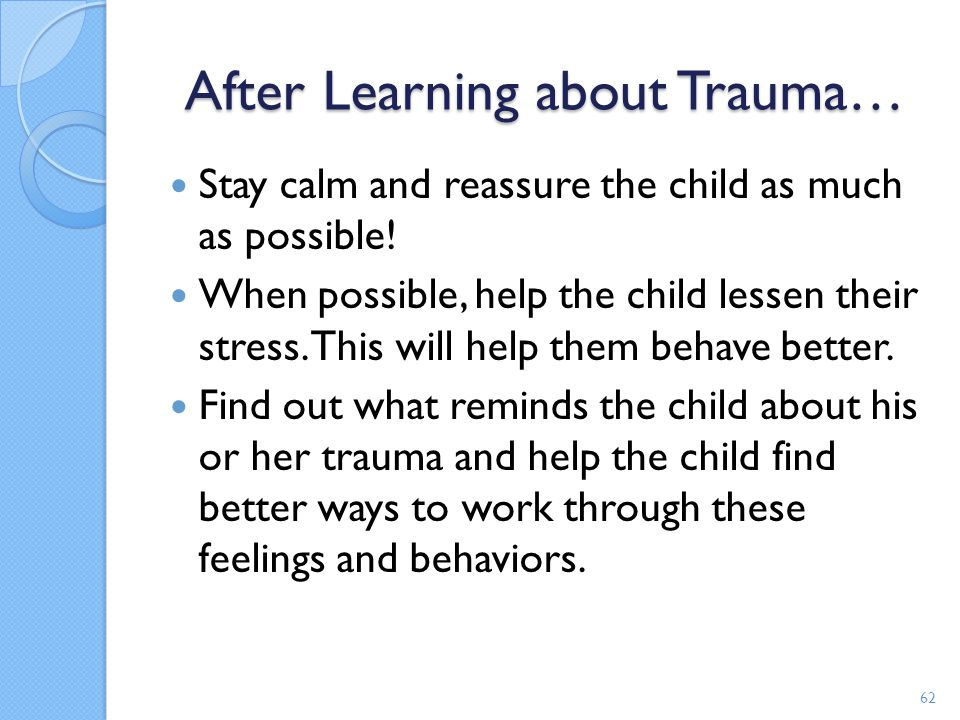 After Learning about Trauma…
