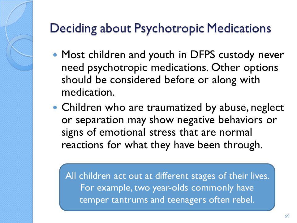 Deciding about Psychotropic Medications