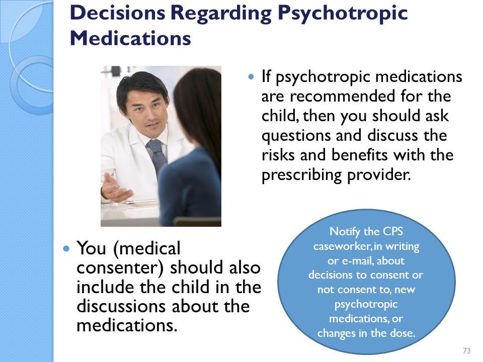 Decisions Regarding Psychotropic Medications