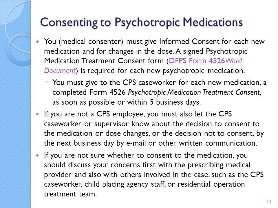 Consenting to Psychotropic Medications