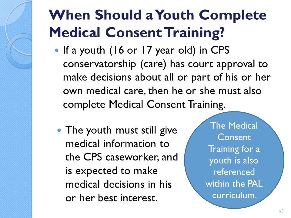 When Should a Youth Complete Medical Consent Training