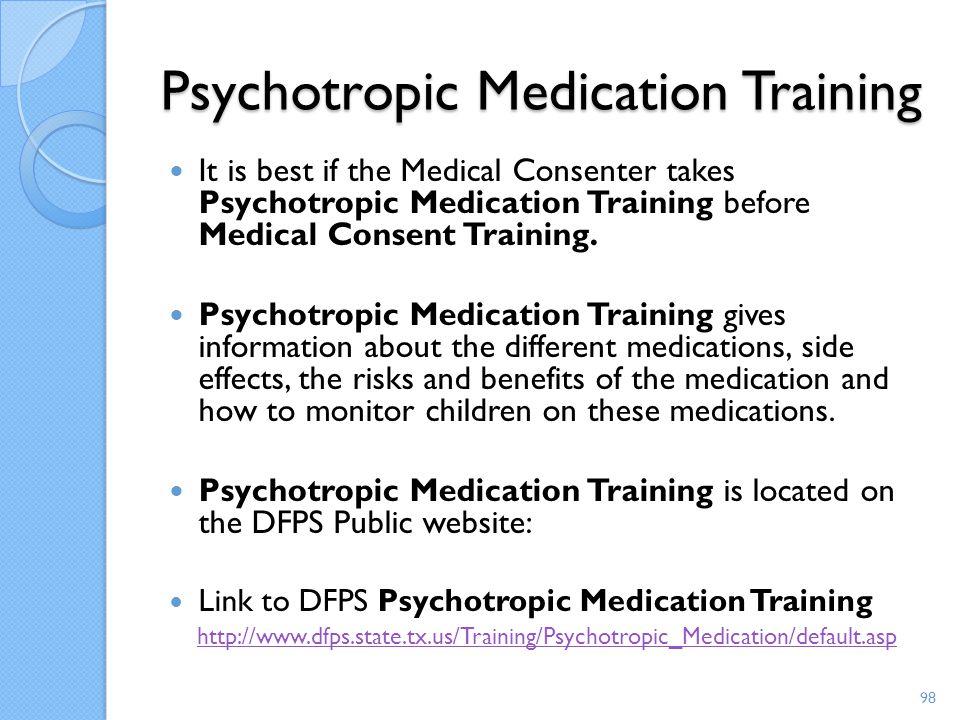Psychotropic Medication Training