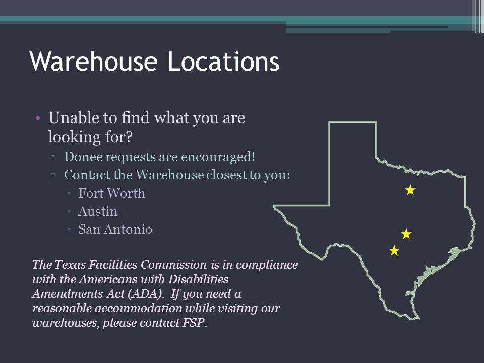 Warehouse Locations Unable to find what you are looking for